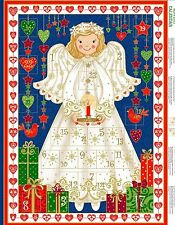 Angel Advent Calander- Makower -  Xmas Panel - Christmas Panel  - Cotton Fabric