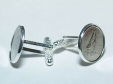 10th Tin Wedding Anniversary 2007 Canadian dime coin cufflinks - Great Gift