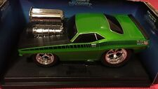 MUSCLE MACHINES 1970 CUSTOM CUDA 1/18 GREEN