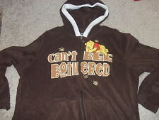 "WINNIE THE POOH ""Can't Even Bee Bothered"" fleece hoodie Women's plus WALT DISNEY"