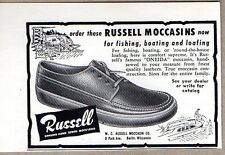 1956 Print Ad Russel Moccasins Shoes Berlin,WI