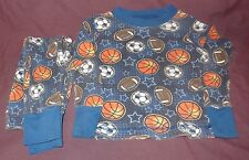 Sports Blue Two-Piece Pajamas Blue Size XS 4T / 5T  Steve Boys Football Soccer