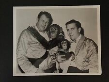 RARE VINTAGE CIRCUS ACT: Monkeys and Entertainers Photo  - NO RESERVE
