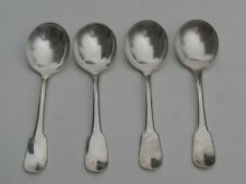 CHRISTOFLE CLUNY RARE  4 CUILLER A CONSOMME BOUILLON SPOON