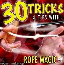 30 Tricks & Tips with Rope Magic DVD - Learn & Perform Illusions w/ Normal Rope