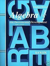 Saxon Algebra 1/2: An Incremental Development, Solutions Manual, John H. Saxon J
