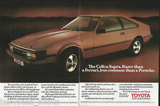 1983 TOYOTA CELICA SUPRA 2-page advertisement, British advert