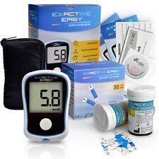 Exactive Easy Blood Glucose Meter kit with 50 Test strips & Lancets Diabetes Kit