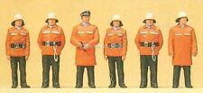 H0 Preiser 10214 Feuerwehrmänner Schutzanzug Figuren