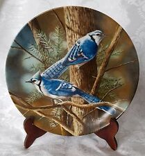 Plate Blue Jay 1985 Knowles China Birds of Your Garden Encyclopedia Britannica