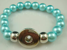 HOT Diy handmade Pearl beads Bracelet fit chunk snap button aw33