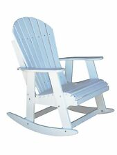 PHAT TOMMY Rocking Adirondack Chair Recycled Poly Outdoor Furniture-White