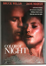 Cinema Poster: COLOR OF NIGHT 1994 (One Sheet) Bruce Willis Jane March Rubén Bla