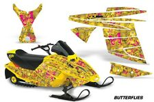 AMR Racing Ski Doo Mini Z Kids Snowmobile Wrap Sled Graphics Kit BUTTERFLY PINK