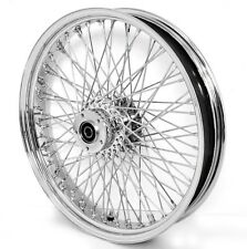 "80 SPOKE 21"" WHEEL FRONT CHROME 21 X 3.5 HARLEY FLHR ROAD KING FLTR ROAD GLIDE"