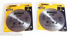 "2 DEWALT 7"" CONTINUOUS RIM DIAMOND TILE WET SAW BLADES DW4791 GRANITE SLATE INCH"