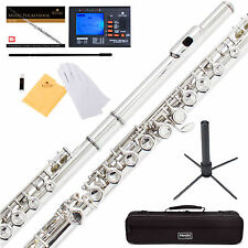 MENDINI NICKEL/SILVER SCHOOL BAND STUDENT C FLUTE w/Split E