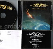 BOSTON Corporate America JAPAN CD w/PS BOOKLET+INSERT EICP-171 Free S&H/P&P