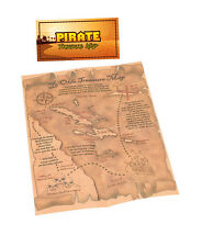 New Party Fancy Dress - Pirate Pirates Treasure Map X Marks The Spot