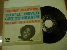 """DIONNE WARWICK""""YOU'LL NEVER GET TO HEAVEN-disco 45 giri FONTAN It  1968"""""""