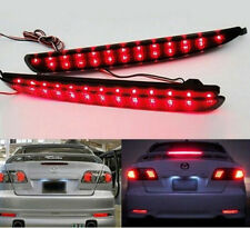24 LED Red Lens Rear Bumper Reflector LED Brake Stop Light For 2003-08 Mazda6