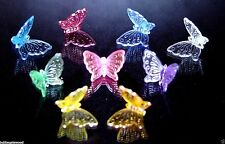27 BUTTERFLY LIGHT 9 Color EQUAL Amt Ceramic Christmas tree bulb Twinkle twist