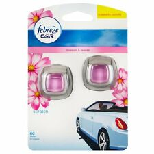FEBREZE CAR VENT CLIP ON AIR FRESHENER BLOSSOM & BREEZE - ECONOMY TWIN PACK