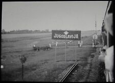 Glass Magic Lantern Slide YUGOSLAVIAN LOCATION NO17 C1930 PHOTO TRAIN