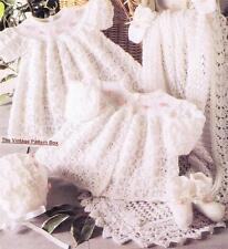 BABY LACY HEIRLOOM SET 3ply / 31cm to 41cm - baby knitting pattern