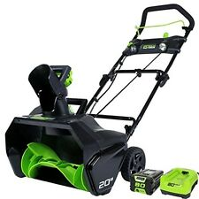 "Greenworks Pro 80V - 20"" Snow Thrower w/2.0 ah battery & charger 2600402 NEW"