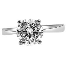 0.06ct Round N,O/VS2 Diamond Solitaire 14kt White Gold Engagement Ring SDRSOL196