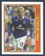 TOPPS TOTAL FOOTBALL-2009- #238-EVERTON-MANCHESTER UNITED-PHIL NEVILLE IN ACTION