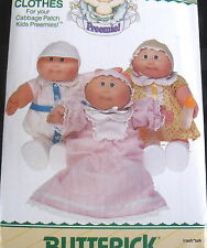 Cabbage Patch Doll Clothes Pattern Preemie nightgown dress bonnet romper B 6980
