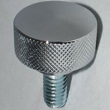 """Chrome Billet Aluminum """"Knurled"""" Bolt for Harley Mounting Seat to Top Fender"""
