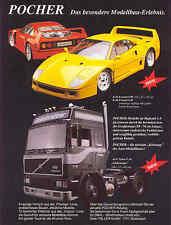POCHER pubblicitario pagina... Ferrari F 40 e VOLVO F 16...., giornale di visualizzazione