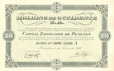 RARO, Holding de Occidente SA, accion, Barcelona, 1946 (Emision 700)