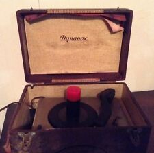 Vintage Dynavox Crescent Portable 45's Record Player