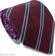 Club Tie West Ham United Utd Burnley  Scunthorpe Football Claret Maroon Sky Blue