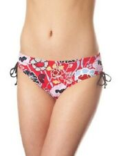 New Panache Size 8 XS Loren Drawside Bikini Briefs Bottoms Red Floral