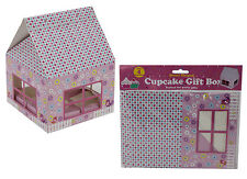 Cupcake Muffin Gift & Storage Transport Box House Shaped Display Carrier 38001