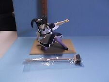 "Love Hina 6""in Figure of Maid / One Knee Holding Broom Black Hair Maid Outfit"