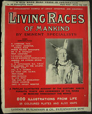 Magazine Living Races Of Mankind 1905 North American Native Indians