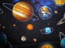 Cuarto Gordo Tela Espacio Planetas Estrellas Algodón Robert Kaufman Star gazers