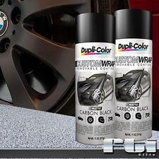 2 Dupli-Color Matte Carbon Black Custom Wrap Removable Spray Paint 11oz - 4 Rims