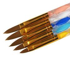 5 X Tamaño Acrílico Pincel Para Gel set arte de Uñas Artificial Diseño Studio UV