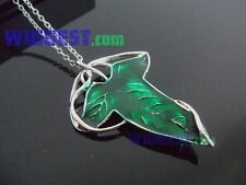 Lord of The Rings Green Elven Leaf Brooch Pin LOTR Aragorn's Barahir Necklace