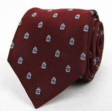 New Gucci Burgundy Woven Silk Neck Tie GG Logo 375998 6169