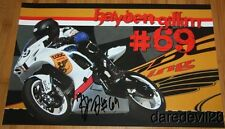2014 Hayden Gillim signed TOBC Racing Suzuki GSX-R600 Supersport AMA poster