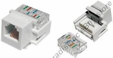 Keystone RJ11/RJ12 tooless Jack Phone/Telephone for 6wire/4wire 6P6C/6P4C{WHITE
