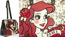ARIEL TATTOO ART CONVERTIBLE SHOULDER BAG  HANDBAG DISNEY THE LITTLE MERMAID